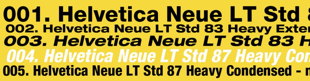 Helvetica Neue LT std Download Free | Helvetica Fonts