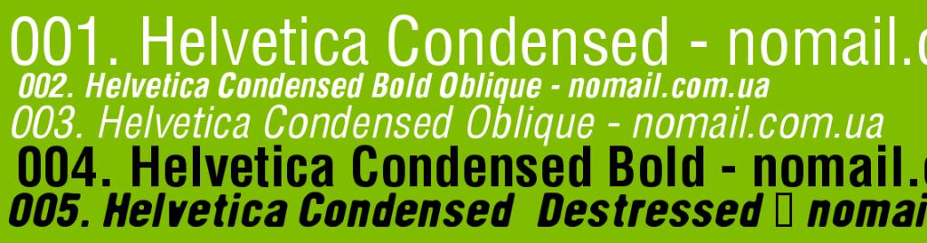 Helvetica Condensed Font